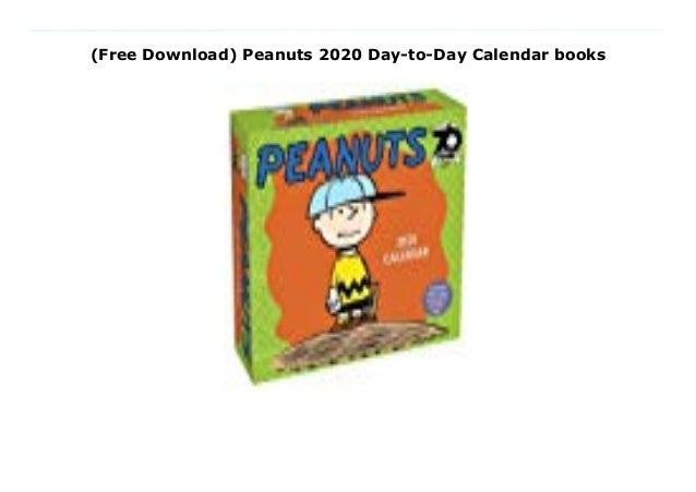 Ebook pdf download site free peanuts 2019 day-to-day calendar library….