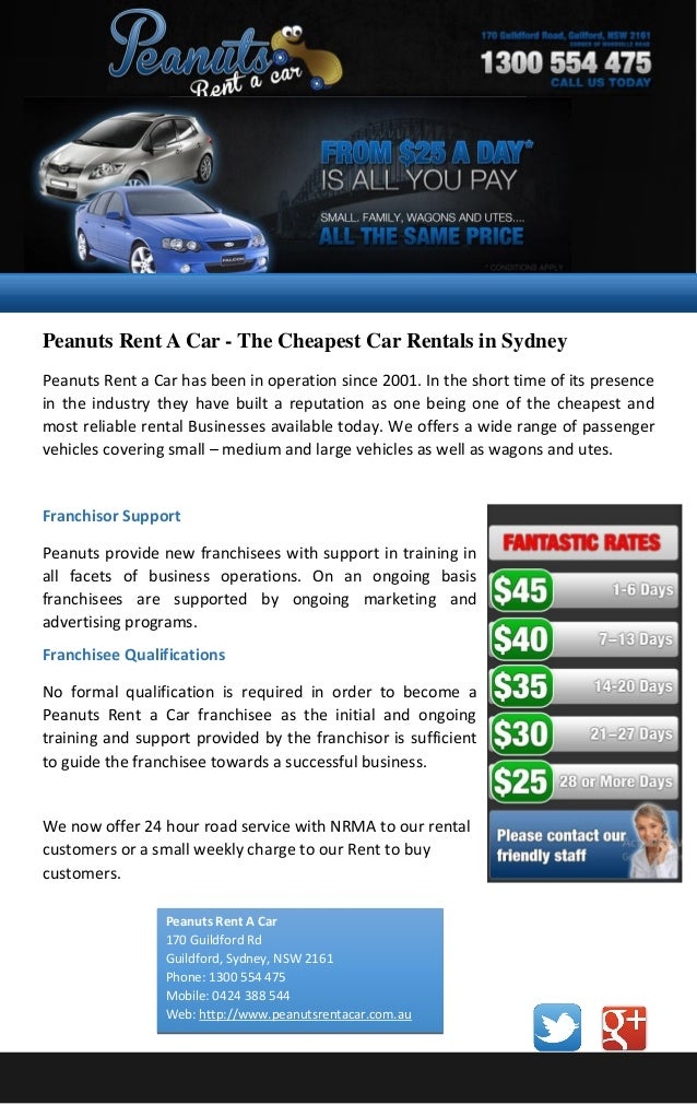 Peanuts Rent A Car The Cheapest Car Rentals In Sydney