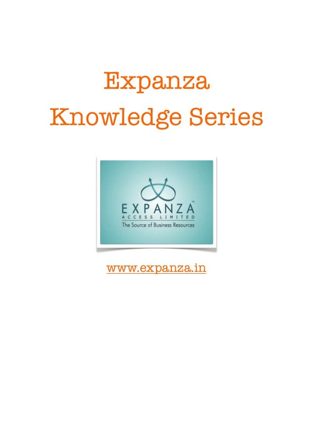Expanza    Knowledge Series        www.expanza.in