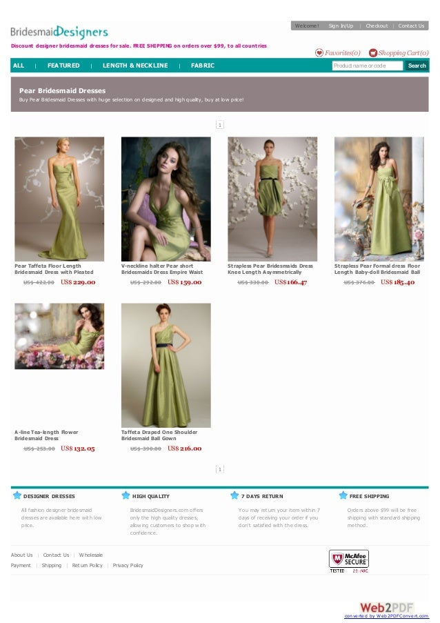 Discount designer bridesmaid dresses for sale. FREE SHIPPING on orders over $99, to all countries  DESIGNER DRESSES  All f...