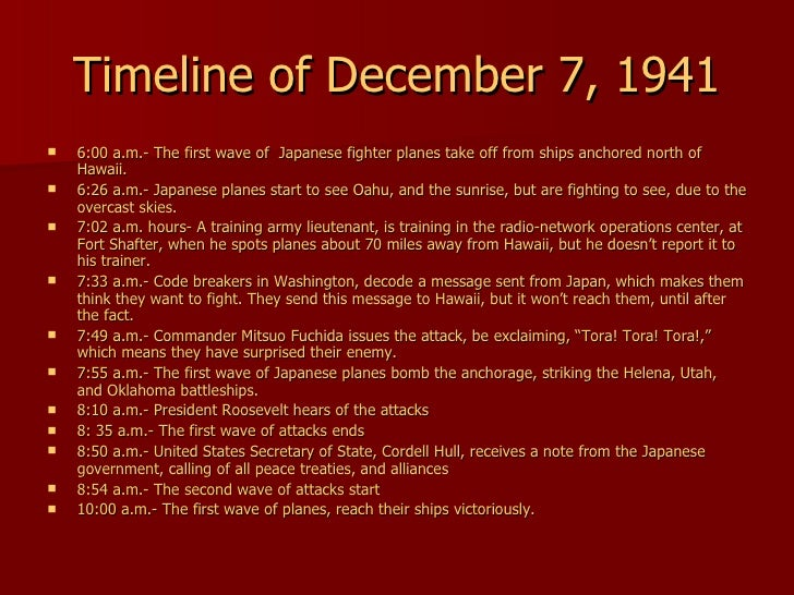 the events leading up to the pearl harbor attack One thing leads to another site menu as a result, the japanese army decided to attack pearl harbor, a us base, as a precaution, in a surprise air attack.