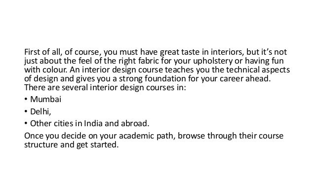 Pearl Academy Steps To Become An Interior Designer
