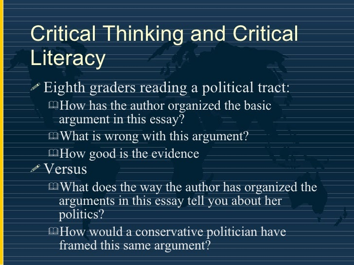 what is the basic structure of an argument in the context of critical thinking How to write a critical essay a critical essay is an analysis of a text such as a book, film, article, or painting the goal of this type of paper is to offer a text or an interpretation of some aspect of a text or to situate the text in.