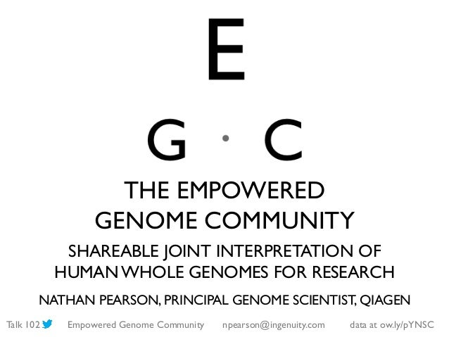 The Empowered Genome Community (ASHG 2013)