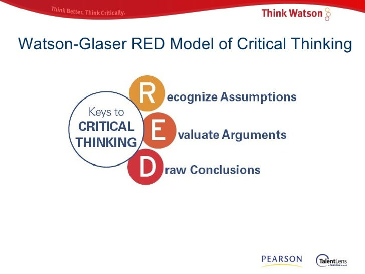 watson-glaser critical thinking questionnaire The watson-glaser critical thinking appraisal is an online asssessment designed to help you measure critical thinking skills in employees and job candidates it is backed by over 80 years of research.