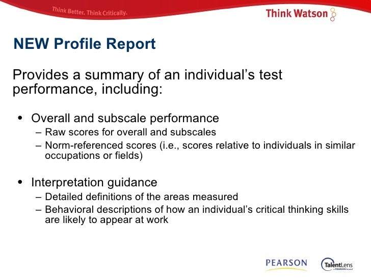 watson glaser critical thinking tests practice