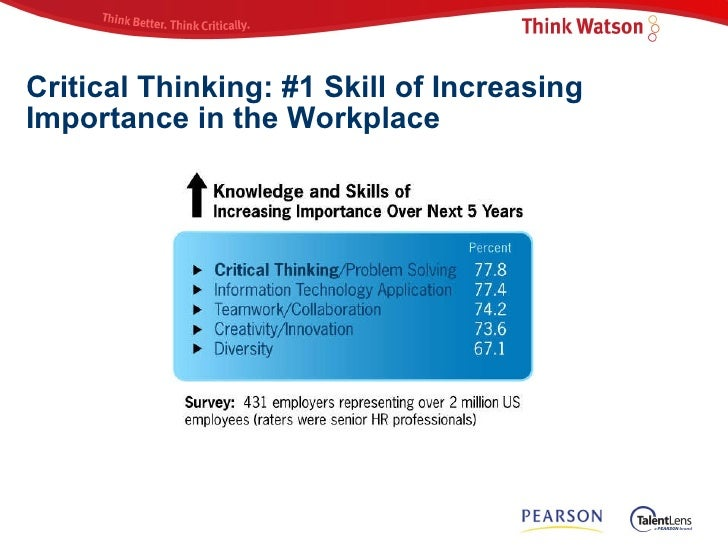 pearson watson-glaser ii critical thinking appraisal For nearly a century, the watson-glaser™ critical thinking appraisal has been  helping companies make data-driven decisions on staffing and development,.
