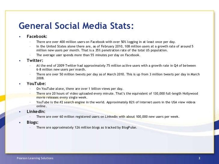 Pearson Social Media Survey 2010 Slide 2