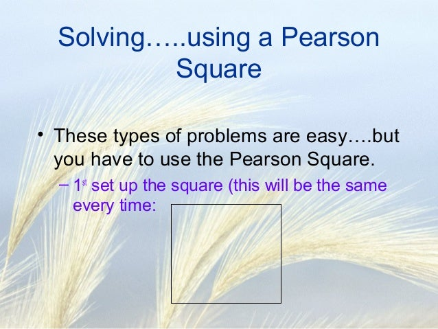 Pearson square Balancing Rations – Pearson Square Worksheet