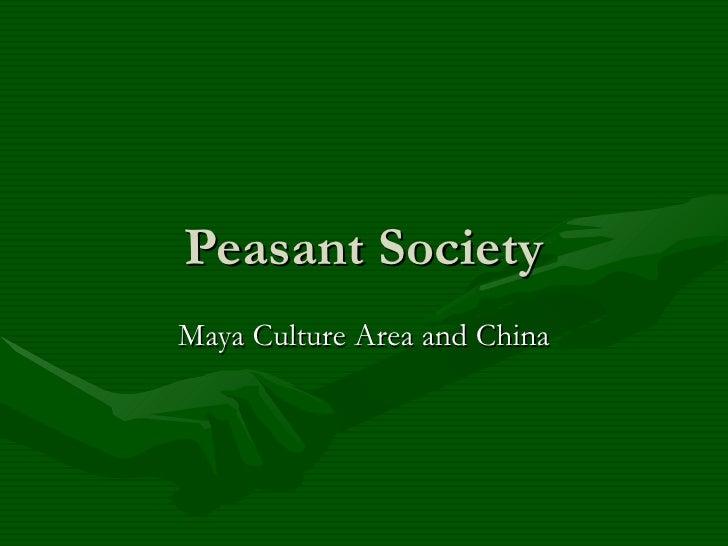 Peasant Society Maya Culture Area and China