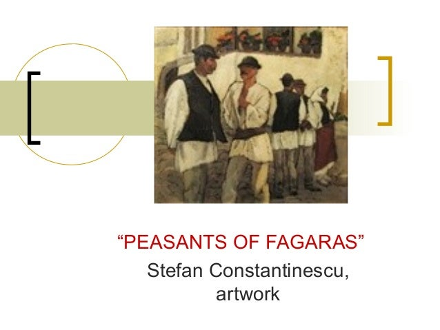 ". ""PEASANTS OF FAGARAS"" Stefan Constantinescu, artwork"