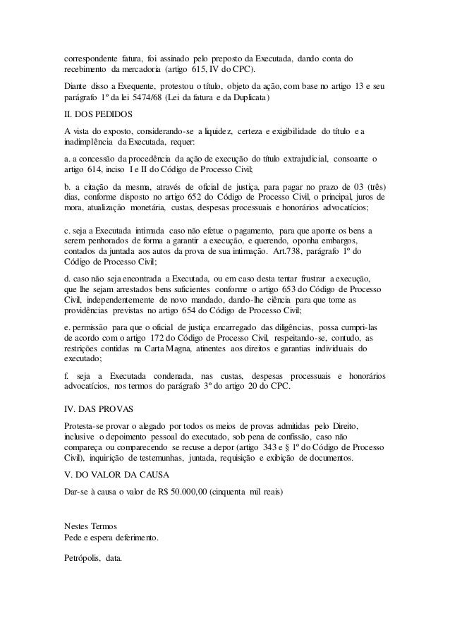 Artigo 615 a cpc