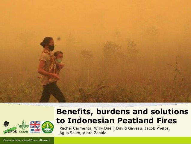 Benefits, burdens and solutions to Indonesian Peatland Fires Rachel Carmenta, Willy Daeli, David Gaveau, Jacob Phelps, Agu...