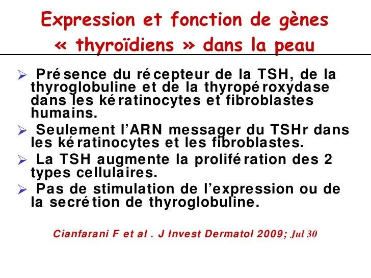 Lésions dermatologiques et endocrinologie. Slide 3
