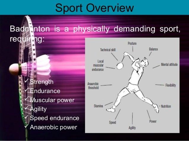 muscular endurance in badminton