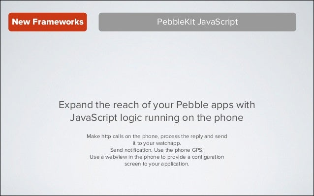 Introducing Pebble SDK 2.0