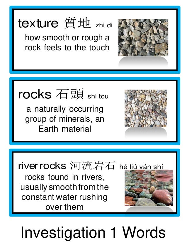 Pebbles sand and silt vocabulary for Words to describe soil