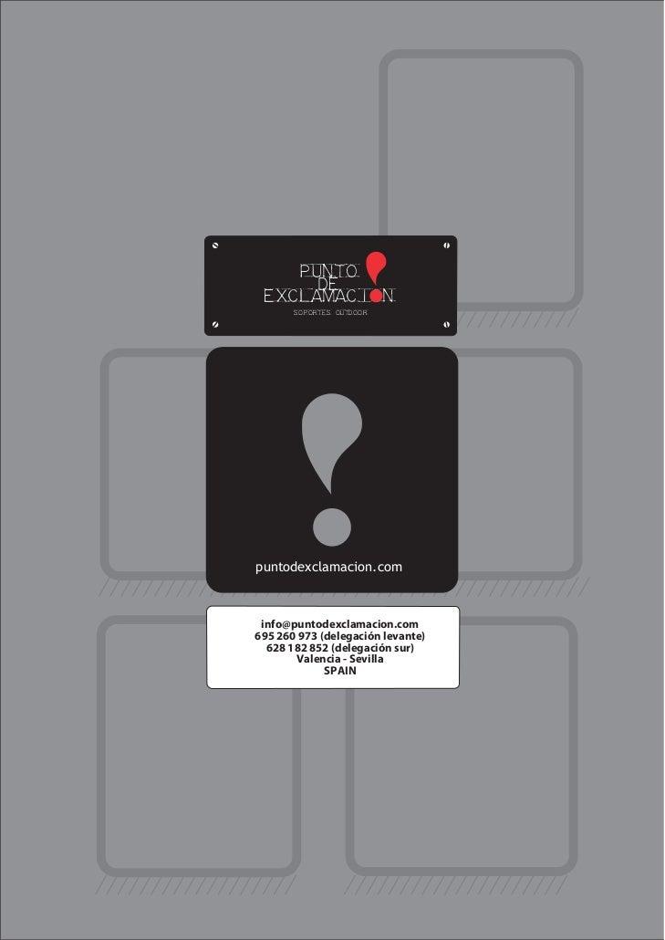 punto      de exclamacion       soportes outdoorpuntodexclamacion.com info@puntodexclamacion.com695 260 973 (delegación le...