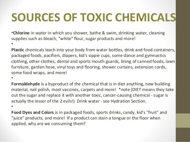 Biochemicals Effects Of Toxic Chemiclas