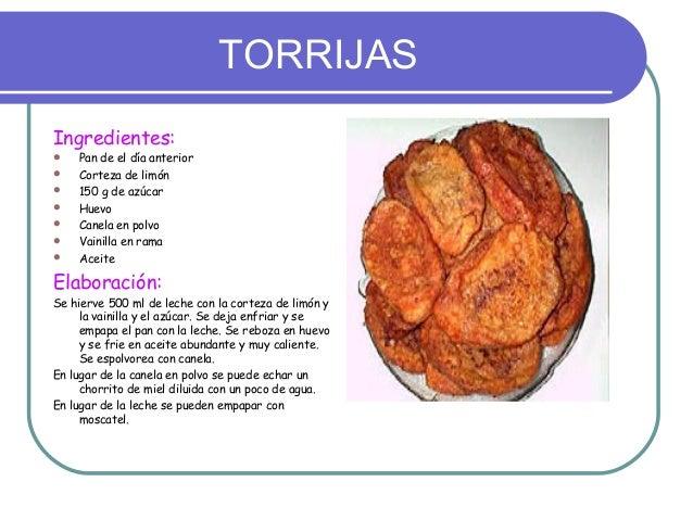 TORRIJASIngredientes:   Pan de el día anterior   Corteza de limón   150 g de azúcar   Huevo   Canela en polvo   Vain...