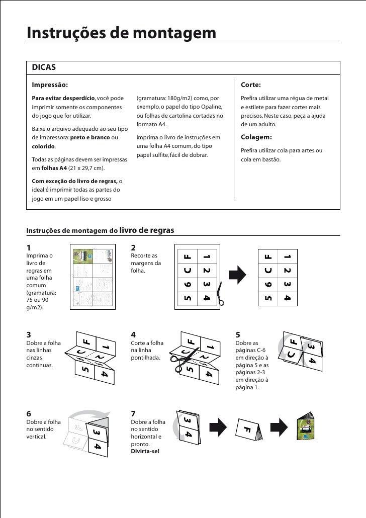 Instruções de montagem    DICAS    Impressão:                                                                             ...