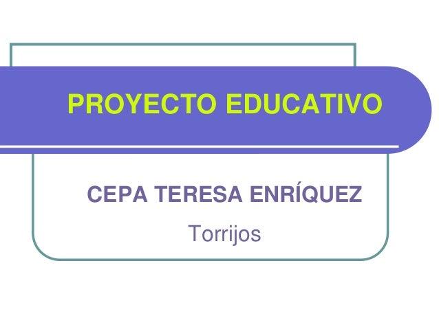 PROYECTO EDUCATIVO CEPA TERESA ENRÍQUEZ Torrijos