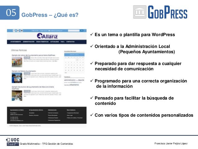 GobPress - Diseñando un tema responsive para las Administraciones Loc…