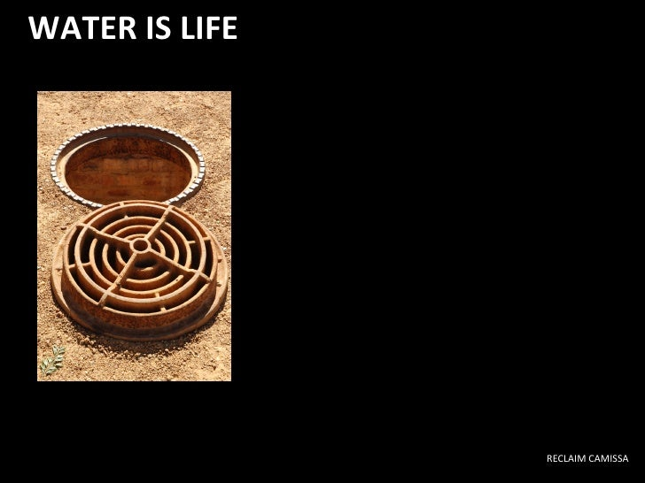 WATER IS LIFE RECLAIM CAMISSA