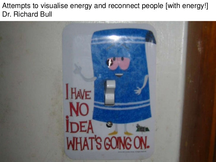 Attempts to visualise energy and reconnect people [with energy!] Dr. Richard Bull<br />