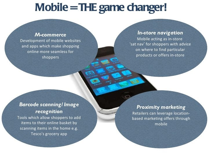 Mobile = THE game changer! In-store navigation Mobile acting as in-store  ' sat nav '  for shoppers with advice on where t...