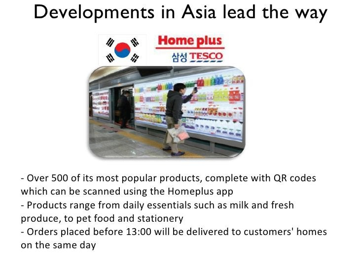 Developments in Asia lead the way - Over 500 of its most popular products, complete with QR codes which can be scanned usi...