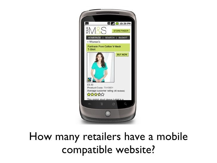 How many retailers have a mobile compatible website?