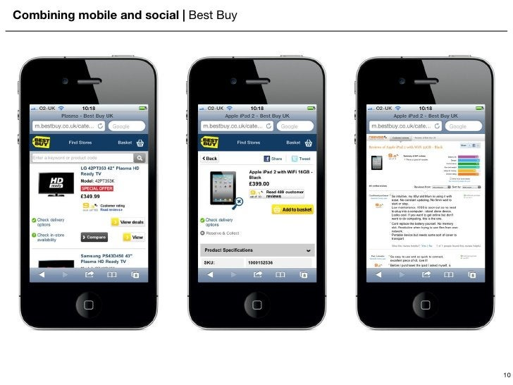 Combining mobile and social    Best Buy 10