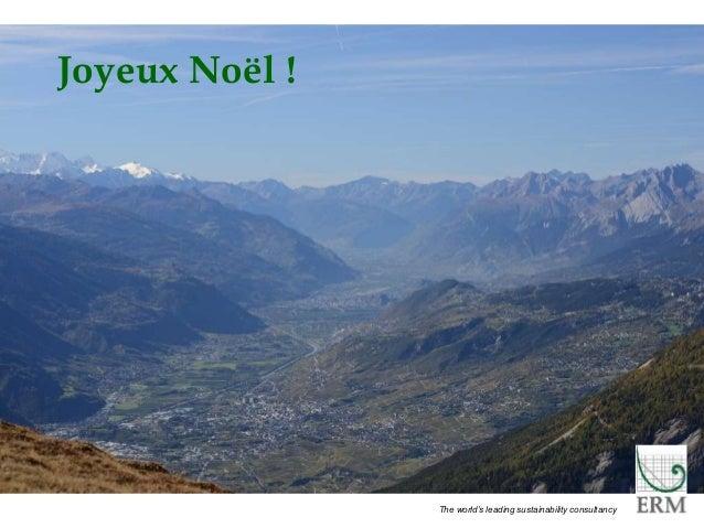 PECHAKUCHA 10 The world's leading sustainability consultancy Joyeux Noël !