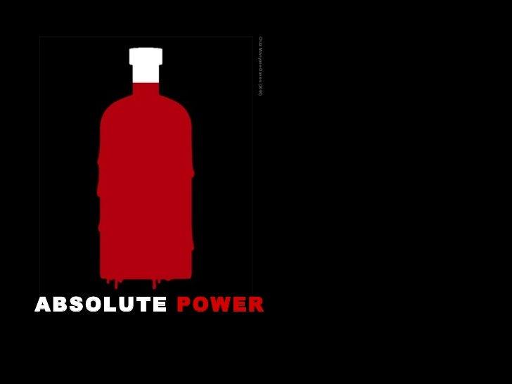 ABSOLUTE  POWER   Chaz Maviyane-Davies (2000)