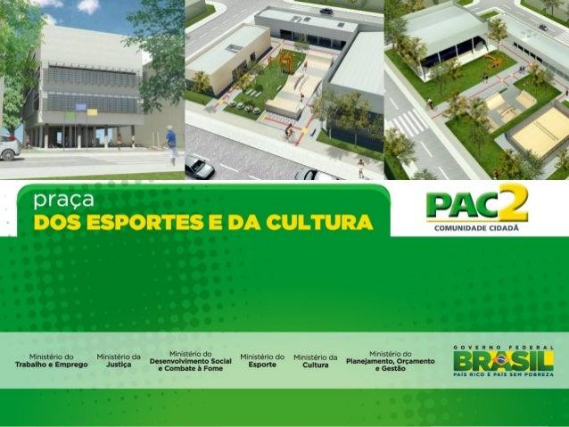 ConceitoA Praça dos Esportes e da Cultura - PEC é um equipamento público estruturadopara integrar atividades e serviços cu...