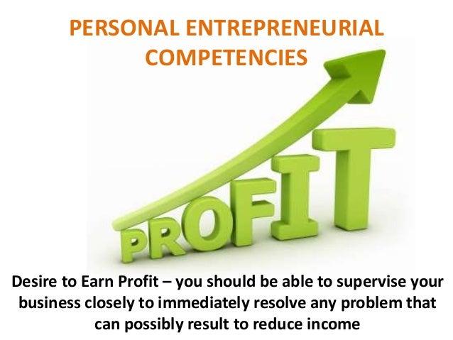 personal entrepreneurial competencies  pecs  in commercial