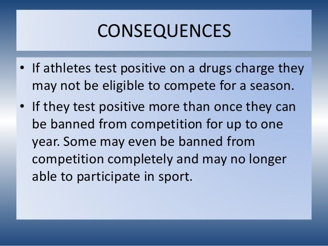 should drugs be banned in sport essay