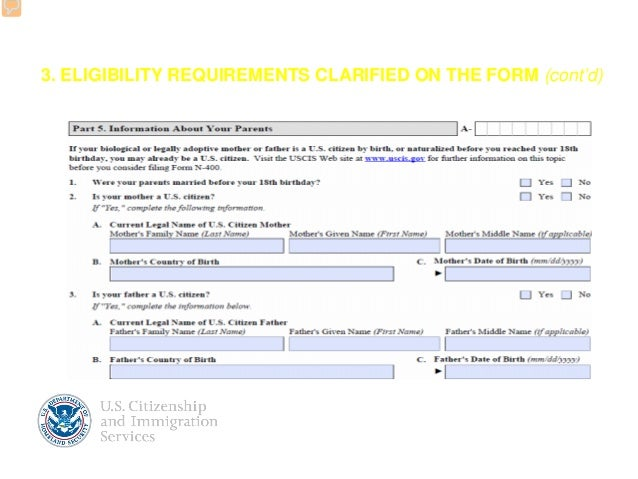 Revised Form N Application For Naturalization