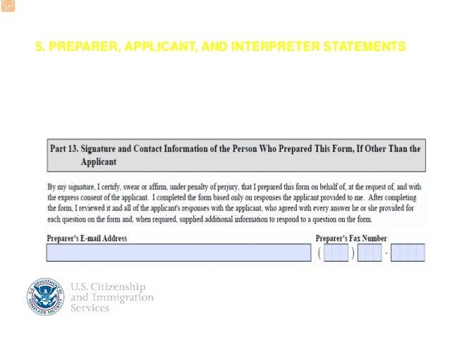Revised Form N-400 application for Naturalization