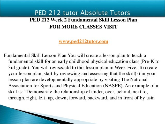 ped 212 Ped 212 entire course for more course tutorials visit wwwped212com ped 212 week 1 dq 1 current issues ped 212 week 1 dq 2 critical thinking ped 212 week 2 dq 1.