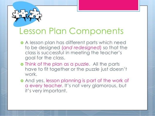 Lesson Plan Components ...