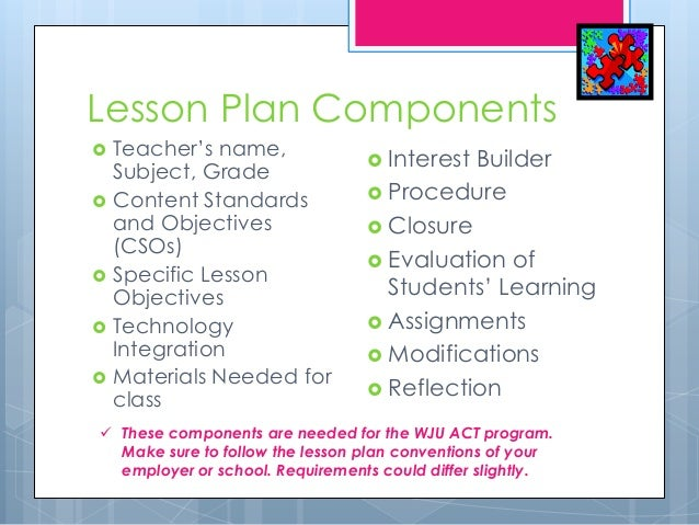 Lesson Plan Basics