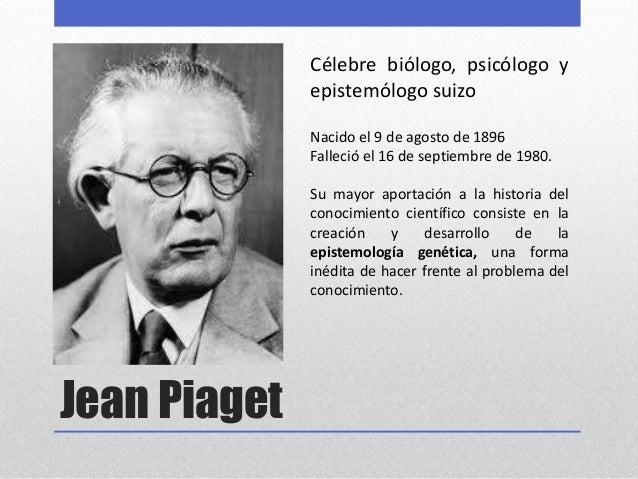 4d71e004e4b La teoría psicogenética de Jean Piaget (introducción)