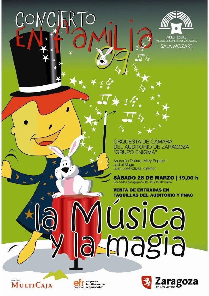 CONCIERTOS PEDAGÓGICOS Y EN FAMILIA Los Conciertos pedagógicos y el Concierto en Familia es una iniciativa del Auditorio d...