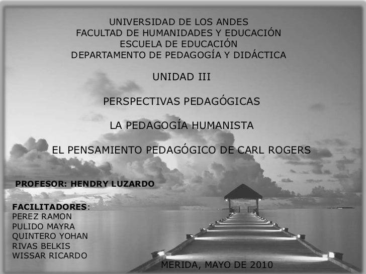 UNIVERSIDAD DE LOS ANDES<br />FACULTAD DE HUMANIDADES Y EDUCACIÓN<br />ESCUELA DE EDUCACIÓN<br />DEPARTAMENTO DE PEDAGOGÍA...