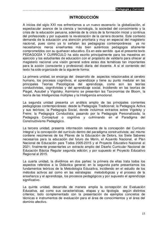 Pedagogia y curriculo for Nuevo curriculo de educacion inicial