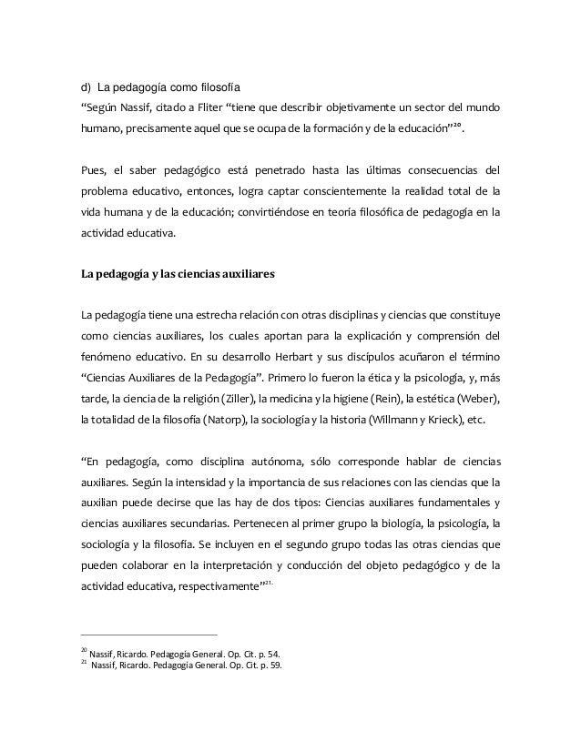 Ricardo nassif pedagogia general