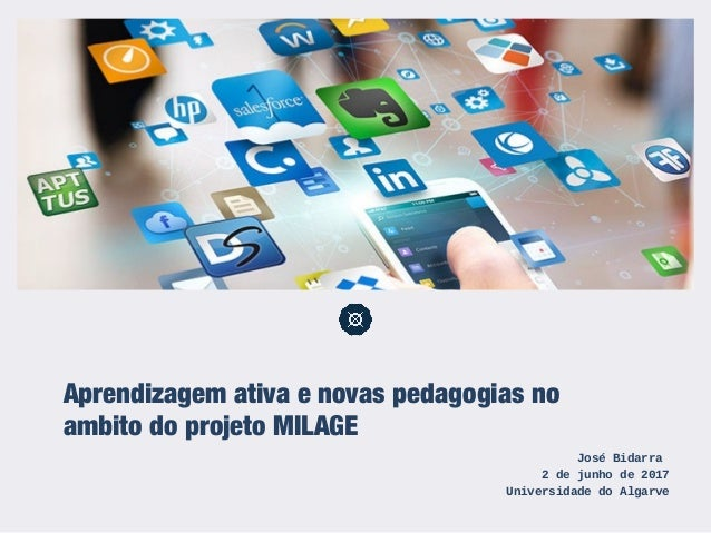 Aprendizagem ativa e novas pedagogias no âmbito do projeto MILAGE José Bidarra 2 de junho de 2017 Universidade do Algarve