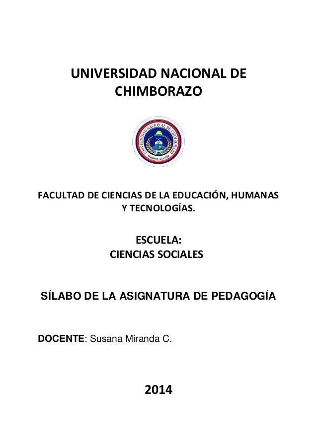 UNIVERSIDAD NACIONAL DE CHIMBORAZO FACULTAD DE CIENCIAS DE LA EDUCACIÓN, HUMANAS Y TECNOLOGÍAS. ESCUELA: CIENCIAS SOCIALES...